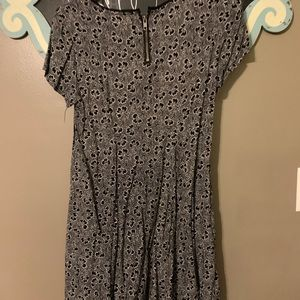 silence + noise Dresses - Mini black dress with flower detail